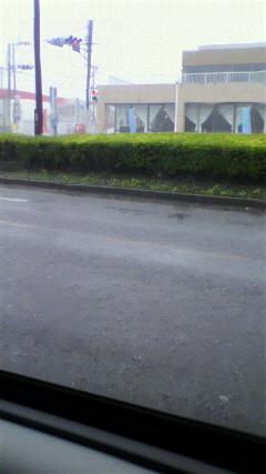 また大雨に巻き込まれ