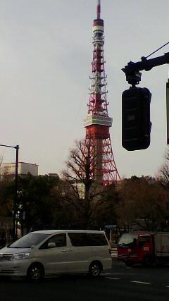 東京タワーは今日も超然と立っていた